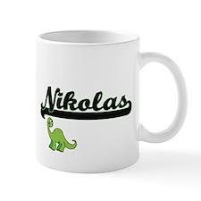Nikolas Classic Name Design with Dinosaur Mugs