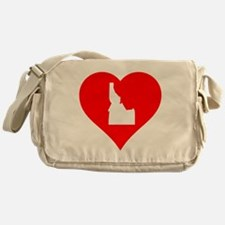 Idaho Heart Cutout Messenger Bag