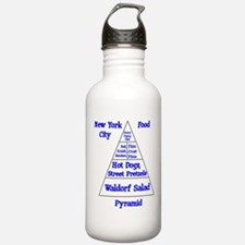 New York Food Pyramid Water Bottle