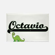 Octavio Classic Name Design with Dinosaur Magnets