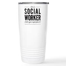 Cute Social worker Thermos Mug