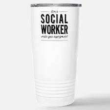 Funny Social worker Travel Mug