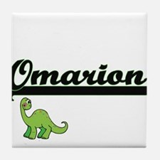 Omarion Classic Name Design with Dino Tile Coaster