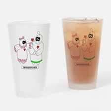 1 LUV  Drinking Glass