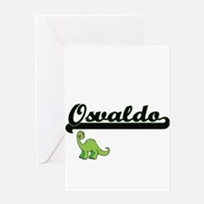 Osvaldo Classic Name Design with Di Greeting Cards