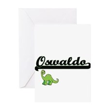 Oswaldo Classic Name Design with Di Greeting Cards