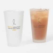 Dear God - Brain Cancer Drinking Glass