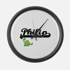Philip Classic Name Design with D Large Wall Clock