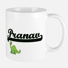 Pranav Classic Name Design with Dinosaur Mugs