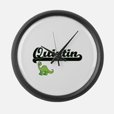 Quintin Classic Name Design with Large Wall Clock