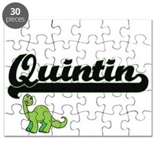 Quintin Classic Name Design with Dinosaur Puzzle