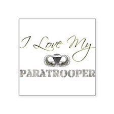 "Unique Army paratrooper Square Sticker 3"" x 3"""