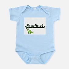 Raphael Classic Name Design with Dinosau Body Suit