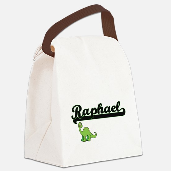 Raphael Classic Name Design with Canvas Lunch Bag