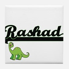 Rashad Classic Name Design with Dinos Tile Coaster