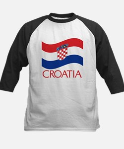 Croatia Waving (C) Kids Baseball Jersey