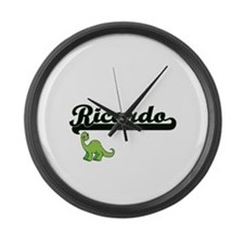 Ricardo Classic Name Design with Large Wall Clock
