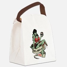 Good Taste Zombie Girl Canvas Lunch Bag