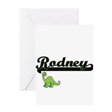 Rodney Classic Name Design with Din Greeting Cards
