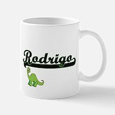 Rodrigo Classic Name Design with Dinosaur Mugs
