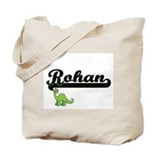 Rohan Classic Name Design with Dinosaur Tote Bag