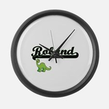 Roland Classic Name Design with D Large Wall Clock