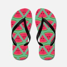Smiling Cartoon Watermelon Pattern Flip Flops