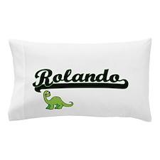 Rolando Classic Name Design with Dinos Pillow Case