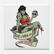 Good Taste Zombie Girl Tile Coaster