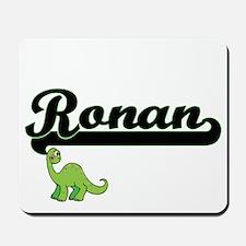 Ronan Classic Name Design with Dinosaur Mousepad