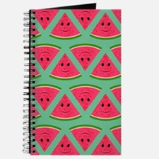 Smiling Cartoon Watermelon Pattern Journal