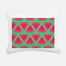 Smiling Cartoon Watermel Rectangular Canvas Pillow