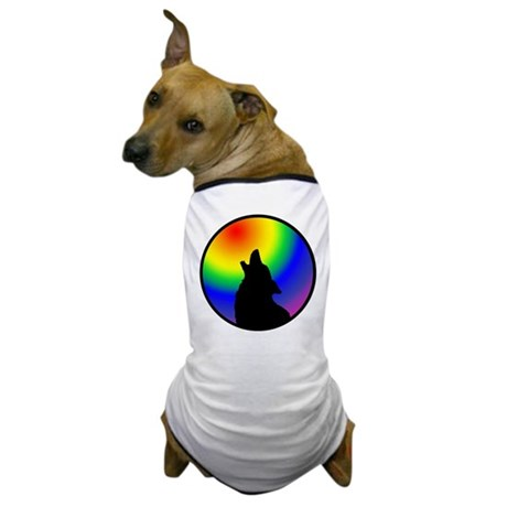 Wolf & Circle Gay Pride Dog T-Shirt