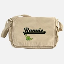 Ronnie Classic Name Design with Dino Messenger Bag