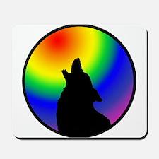 Wolf & Circle Gay Pride Mousepad