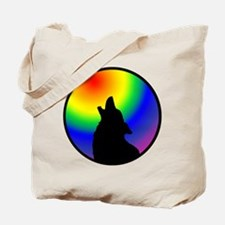 Wolf & Circle Gay Pride Tote Bag