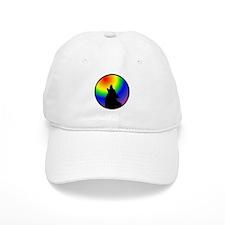 Wolf & Circle Gay Pride Baseball Cap