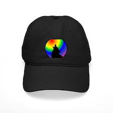 Wolf & Circle Gay Pride Baseball Hat