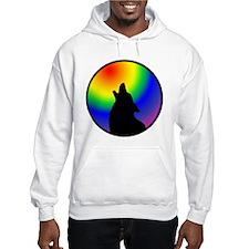 Wolf & Circle Gay Pride Hoodie