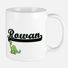 Rowan Classic Name Design with Dinosaur Mugs