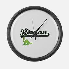 Rowan Classic Name Design with Di Large Wall Clock