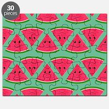 Smiling Cartoon Watermelon Pattern Puzzle