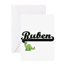 Ruben Classic Name Design with Dino Greeting Cards