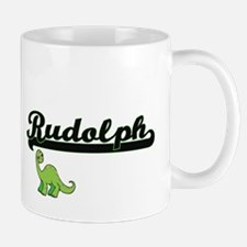 Rudolph Classic Name Design with Dinosaur Mugs