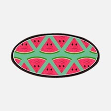 Smiling Cartoon Watermelon Pattern Patch