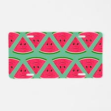 Smiling Cartoon Watermelon Aluminum License Plate