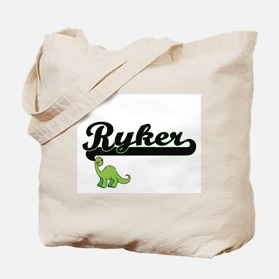 Ryker Classic Name Design with Dinosaur Tote Bag