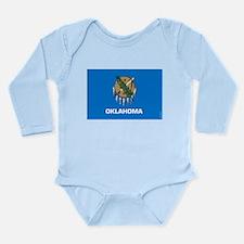 Oklahoma State Flag Long Sleeve Infant Bodysuit