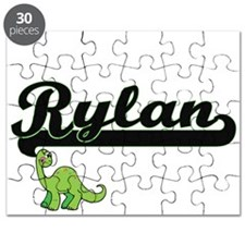 Rylan Classic Name Design with Dinosaur Puzzle