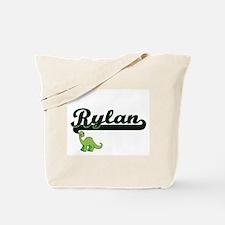 Rylan Classic Name Design with Dinosaur Tote Bag